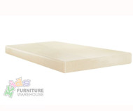 "E-Rest 6"" Memory Foam Twin Mattress Natural 