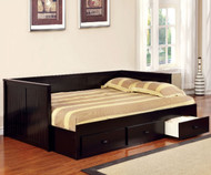 Wolford Daybed Full Size Black   Furniture of America   GI-CM1927BK
