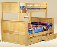 Hampton Twin over Full Bunk Bed Natural | Good Trading | GT-TF83001NATURAL