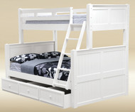 Hampton Twin over Full Bunk Bed White | Good Trading | GT-TF83001W