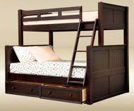 Hampton Twin over Full Bunk Bed Walnut | Good Trading | GT-TF83001WA