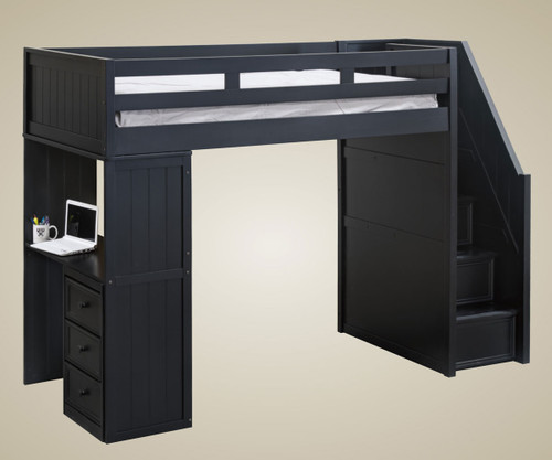 Addison Stair Loft Bed Black | Jay Furniture 1 | GT085X-BK