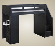 Addison Stair Loft Bed Black | Jay Furniture 1 | GT085X-BK
