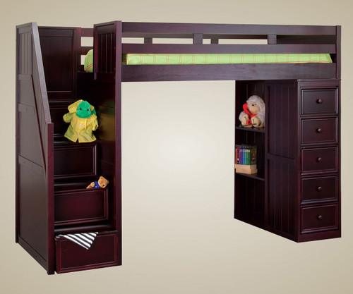 Addison Stair Loft Bed Walnut | Jay Furniture 1 | GT085X-WA
