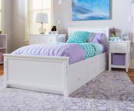 Jackpot Twin Size Bed White | Jackpot Kids Furniture | JACKPOT-710130-002