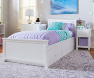 Jackpot Twin Size Bed White | Jackpot Kids Furniture | JACKPOT-710130-002
