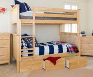 Jackpot Full over Full Bunk Bed Natural | Jackpot Kids Furniture | JACKPOT-710300-001