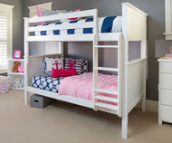 Jackpot Full over Full Bunk Bed White | Jackpot Kids Furniture | JACKPOT-710300-002