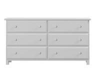 Jackpot 6 Drawer Dresser White | Jackpot Kids Furniture | JACKPOT-714060-002
