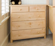 Jackpot 5 Drawer Dresser Natural | Jackpot Kids Furniture | JACKPOT-714123-001