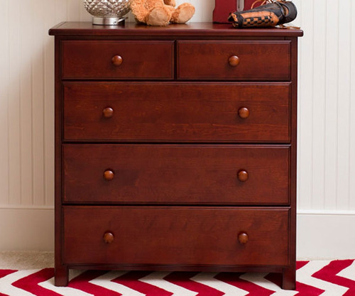 Jackpot 5 Drawer Dresser Cherry Kids Furniture 714123 004