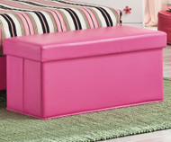 Savannah Upholstered Storage Bench Pink | Kith | KT269-29
