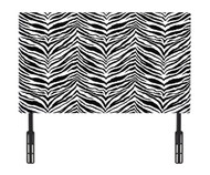 Kidz World Designer Fabric Headboard Tunisia Black and White Twin Size | Kidz World | KW1100-TBW