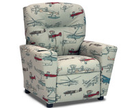 Kidz World Recliner Designer Fabric Vintage Air | Kidz World | KW1300-VAP