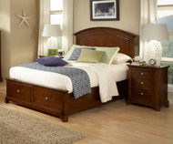 Impressions Panel Bed with Storage Full Size | Legacy Classic | LC-2880-4104SK
