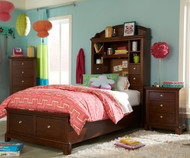 Impressions Bookcase Bed with Storage Twin Size | Legacy Classic | LC-2880-4803K