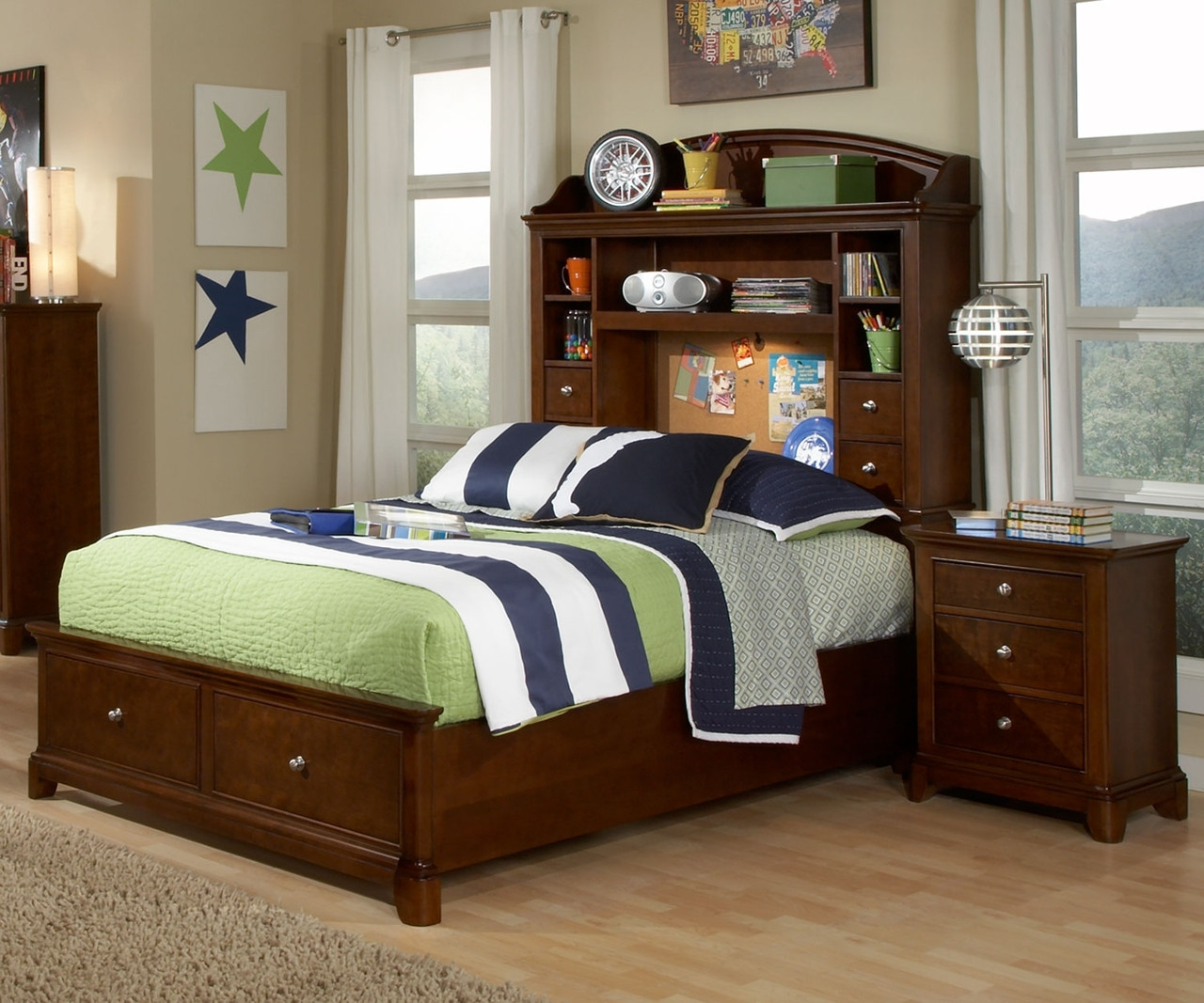 Impressions Full Size Bookcase Bed with Storage 2880 4804K