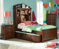Impressions Bookcase Bed with Trundle Twin Size | Legacy Classic | LC-2880-4813KX