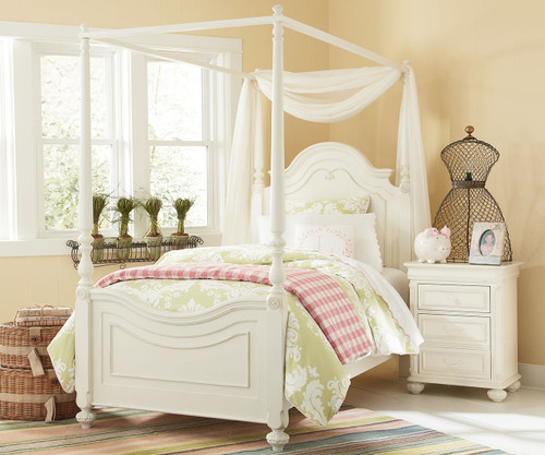 charlotte poster bed with canopy twin size legacy classic lc 3850 4433k - Twin Size Canopy Bed Frame