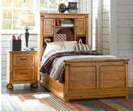 Bryce Canyon Bookcase Bed with Trundle Twin Size | Legacy Classic | LC-3900-4803KX