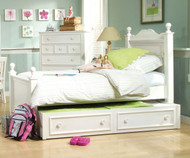 Summer Breeze Low Poster Bed with Trundle Twin Size | Legacy Classic | LC-481-4203K-9500