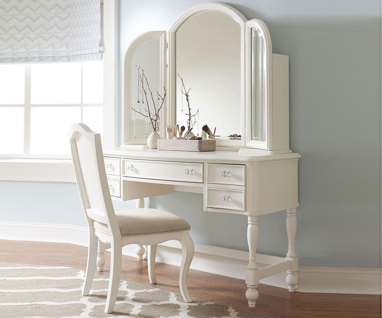 Harmony vanity desk 4910 6100 legacy classic kids kids bedroom furniture by wendy bellisimo Badcock home furniture more pompano beach fl