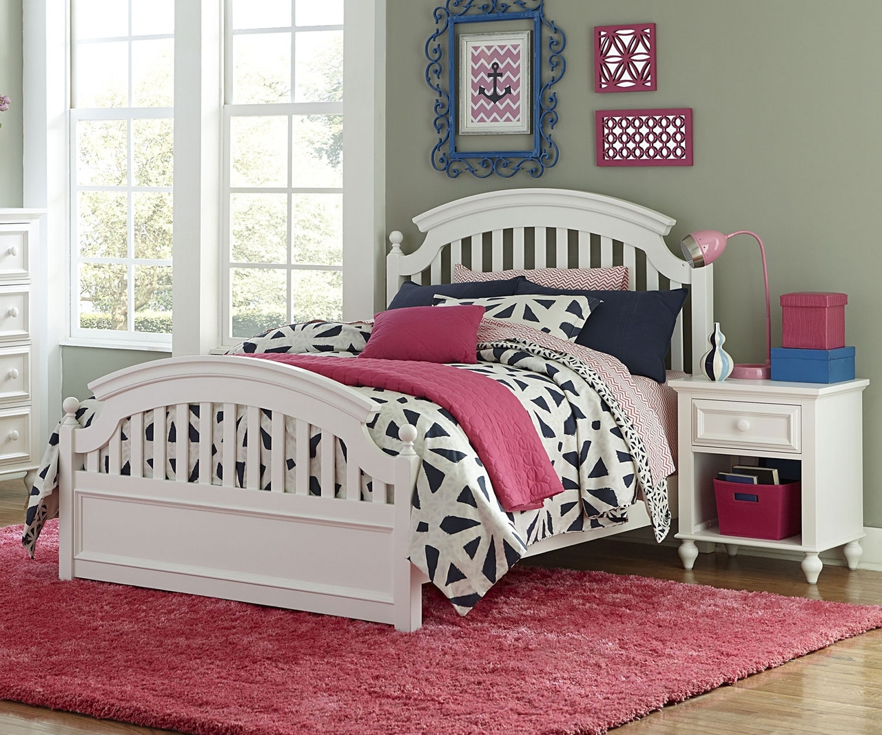 Academy Full Size Panel Bed in White Finish 5811 4104K