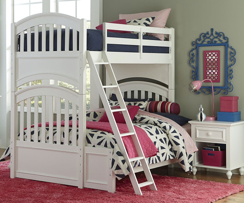 Academy Twin over Full Bunk Bed White | Legacy Classic | LC-5811-8140K
