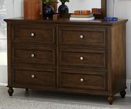 Academy 6 Drawer Dresser Cinnamon | Legacy Classic | LC-5812-1100