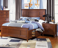 Riley Panel Bed with Storage Twin Size | Magnussen Home | MHY1873-54X