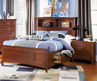 Riley Bookcase Bed with Storage Twin Size | Magnussen Home | MHY1873-58X