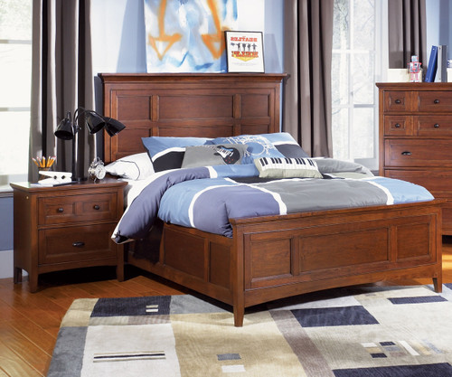 Riley Panel Bed Full Size | Magnussen Home | MHY1873-64