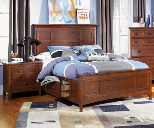 Riley Panel Bed with Storage Full Size | Magnussen Home | MHY1873-64X