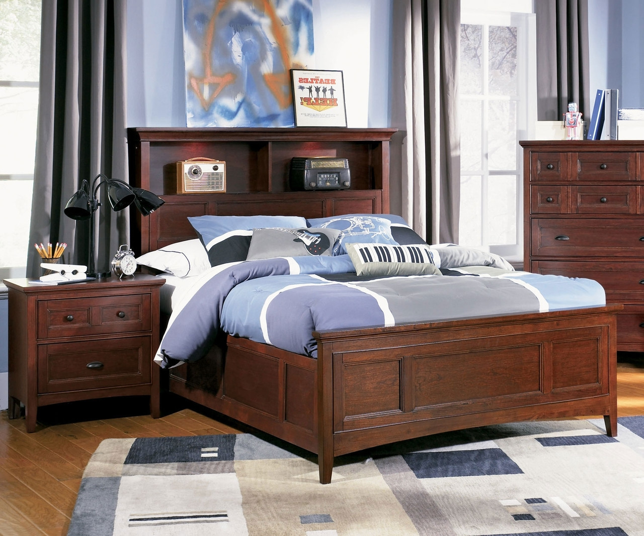 Riley Full Size Bookcase Bed Y1873 68 Magnussen Home