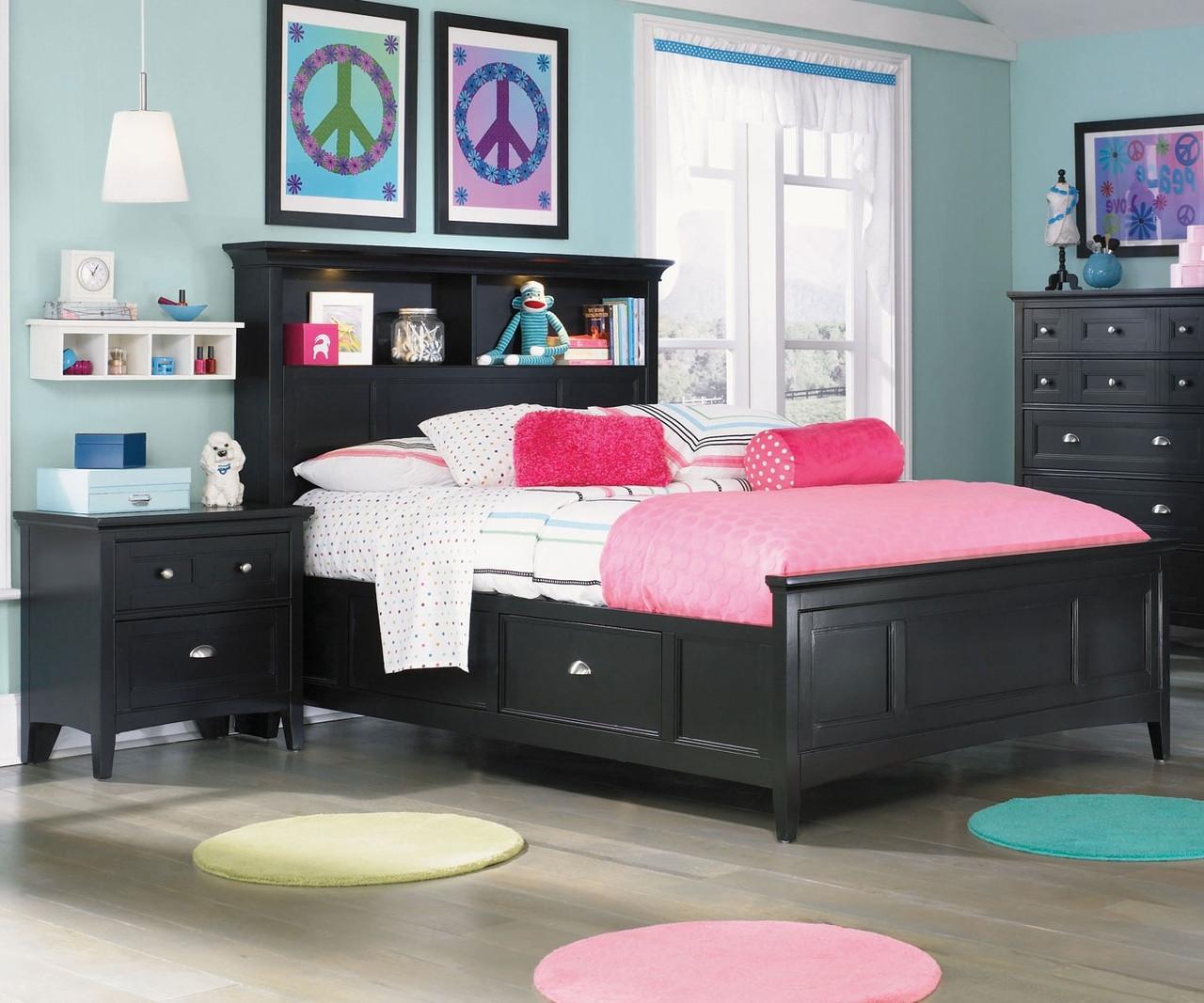 Bennett Twin Size Bookcase Bed With Storage Y1874 58 Magnussen