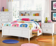 Kenley Bookcase Bed with Storage Twin Size | Magnussen Home | MHY1875-58X