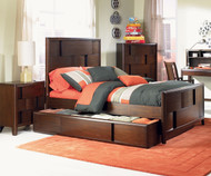Twilight Panel Bed with Trundle Twin Size | Magnussen Home | MHY1876-54X