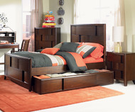 Twilight Panel Bed with Trundle Full Size | Magnussen Home | MHY1876-64X
