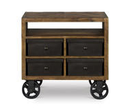 Braxton Nightstand with Casters | Magnussen Home | MHY2377-01