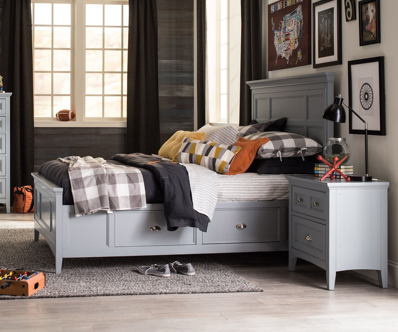 Graylyn Full Size Panel Bed With Storage Y3572 64 Magnussen Home