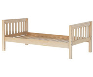 Maxtrix Twin Size Bed Natural 2 | Maxtrix Furniture | MX-1000-NS