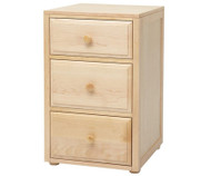 Maxtrix 3 Drawer Nightstand Natural | Maxtrix Furniture | MX-4235-N