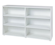 Maxtrix 6 Shelf Bookcase White | Maxtrix Furniture | MX-4760-W