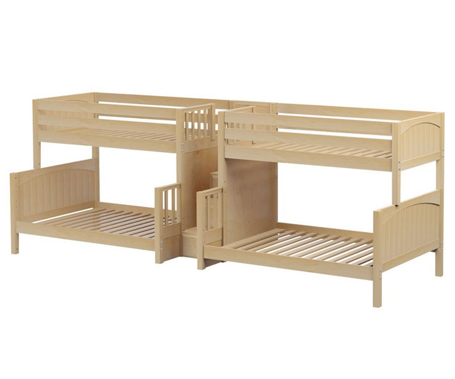 Maxtrix Bigbang Twin Over Full Quadruple Bunk Bed With Stairs
