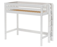 Maxtrix BULKY High Loft Bed Full Size White | Maxtrix Furniture | MX-BULKY-WX