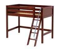Maxtrix CHAP Mid Loft Bed Twin Size Chestnut | Maxtrix Furniture | MX-CHAP-CX