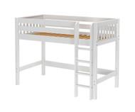 Maxtrix CHIP Mid Loft Bed Twin Size White | Maxtrix Furniture | MX-CHIP-WX