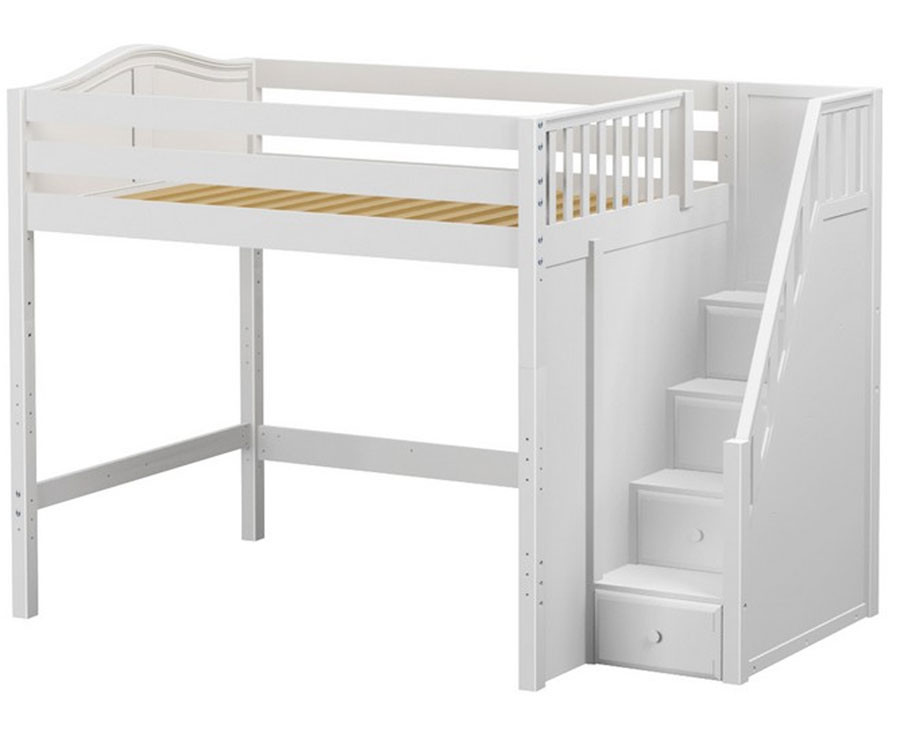 maxtrix enormous high loft bed with stairs matrix kids. Black Bedroom Furniture Sets. Home Design Ideas