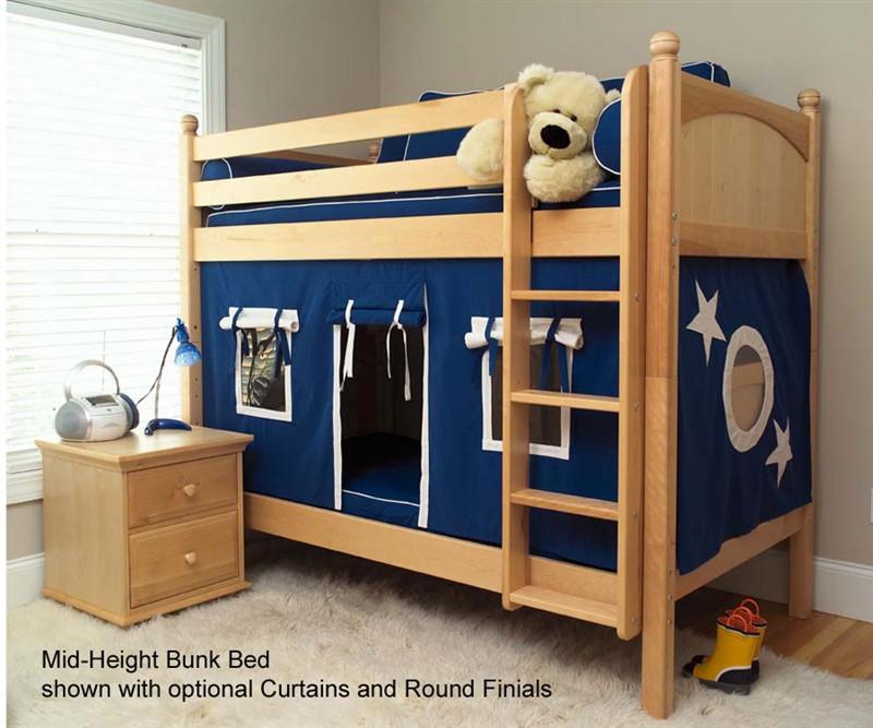 Maxtrix Kids Medium Bunk Bed With Optional Curtains Get It Matrix