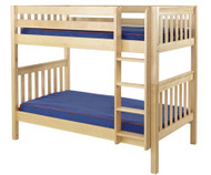 Maxtrix GETIT Medium Bunk Bed Twin Size Natural | Maxtrix Furniture | MX-GETIT-NX